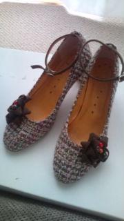 ツイードの靴